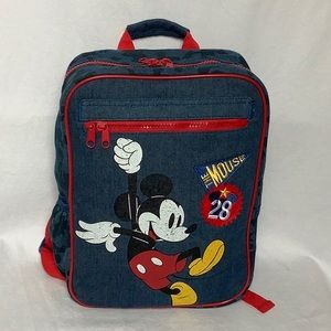 Disney Mickey Mouse Blue And Red Kids Backpack